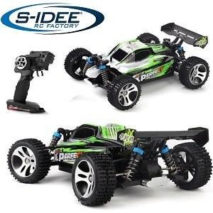 s-idee® 18130 A959-A RC Auto Buggy Monstertruck 1:18 mit 2,4 GHz 35 km/h schnell, wendig, voll digit